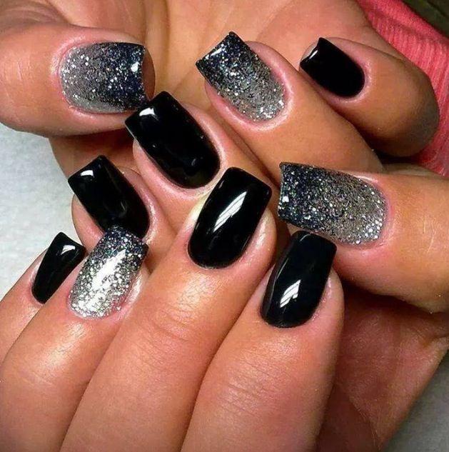 Blanco y negro escarchado✨