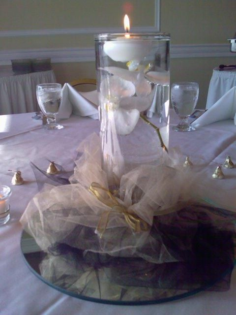 10 best images about 50th anniversary centerpieces on for Table decoration 50th birthday