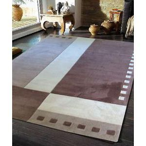 Geometrical Beige and Brown Rug 320x230cm