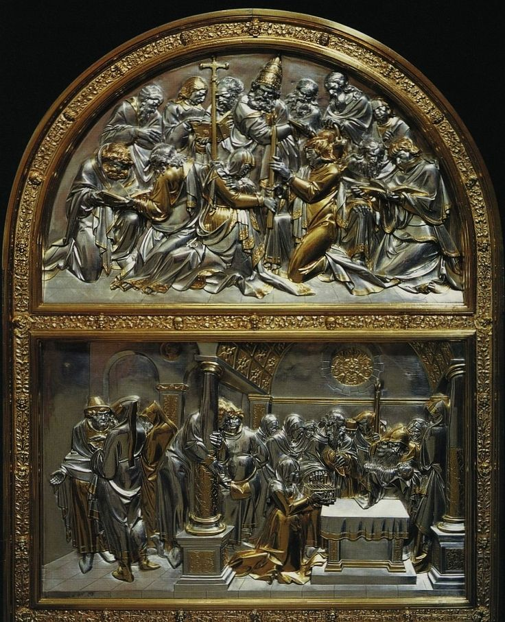 Fragment of silver altarpiece with Life of the Virgin by Hans Dürer (overall design), Georg Herten (wooden frame), Peter Flötner (wooden reliefs), Pankraz Labenwolf (brass casts) and Melchior Baier (goldsmithery), 1531-1538, Kaplica Zygmuntowska, commissioned by Sigismund I the Old