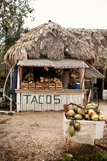 Taco stand in Tulum, Mexico