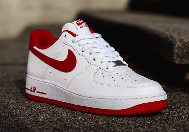 to buy b2929 9f373 Nike Air Force 1 Low - White - Gym Red - SneakerNews.com   Nice Kicks   Nike  air shoes, Nike air force, Red nike shoes