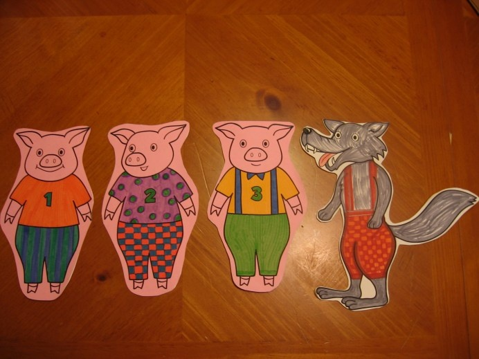 the three little pigs puppet templates - three little pigs puppet printables pinterest