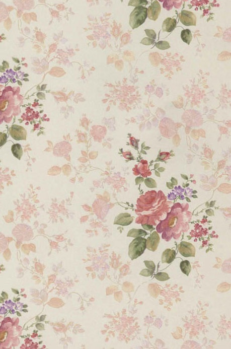 Beautiful Pink Red And Purple Rose Themed Wallpaper From The Book Satin