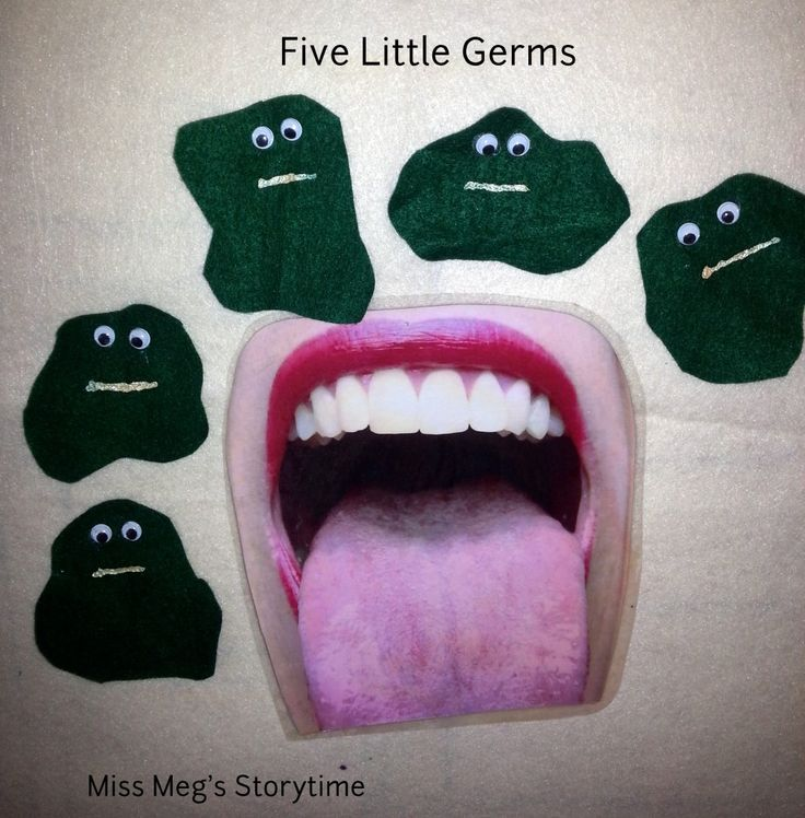 Flannel Friday: Teeth and Germs! | Miss Meg's Storytime