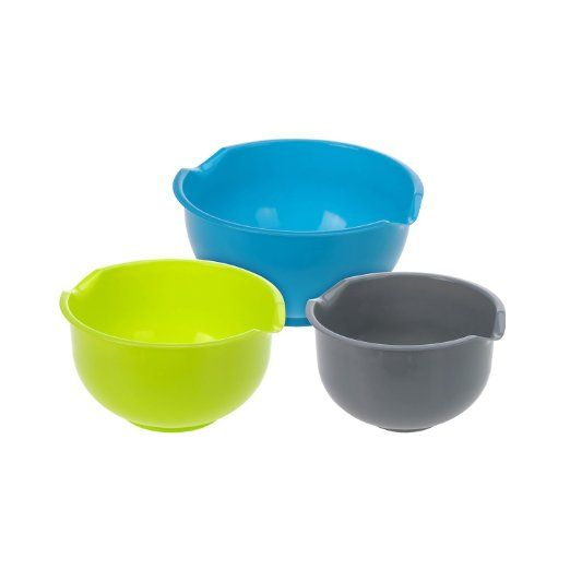 ToCi 3-Piece Mixing Bowl Set with 1.5/2.0/2.5Litre Mixing Bowls Plastic