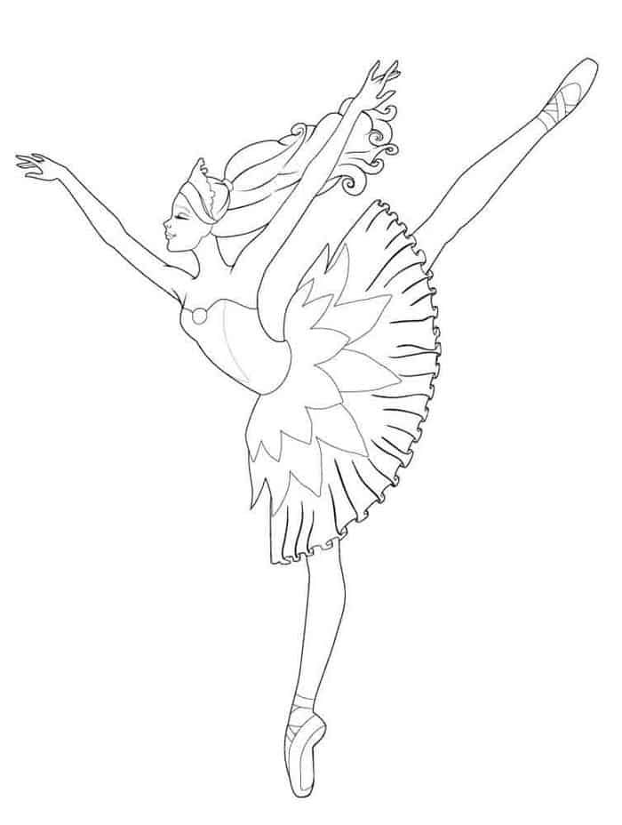 Ballerina Free Coloring Pages Barbie Coloring Ballerina Coloring Pages Barbie Coloring Pages