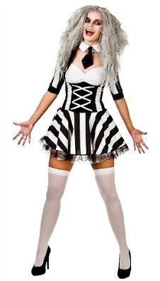 womens crazy spirit beetlejuice halloween costume - Unique Halloween Costume Women