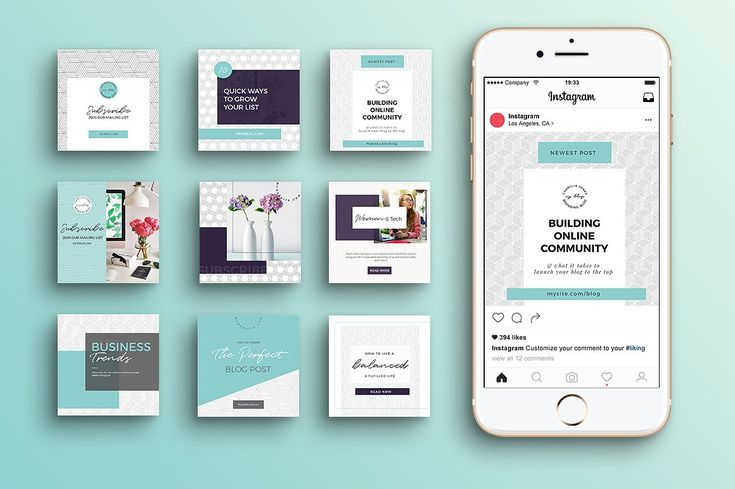 Geometric Instagram Templates - Instagram - great design and layout for Instagram - free templates!