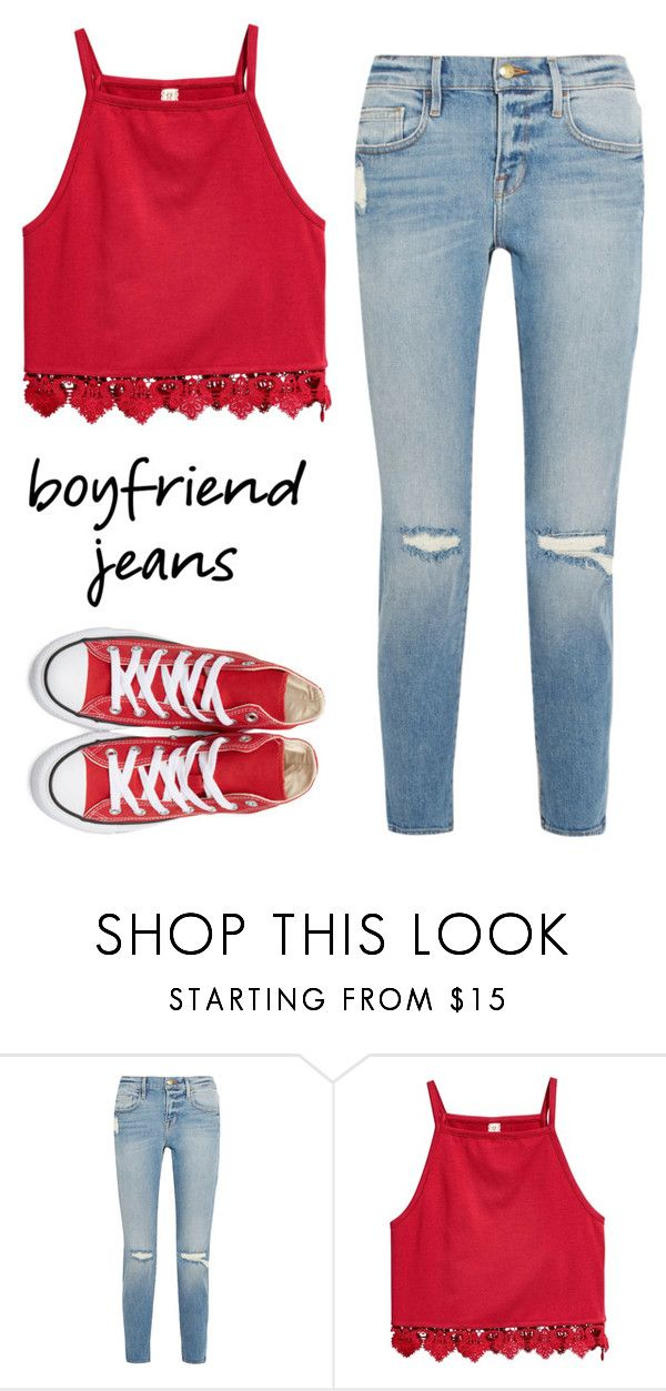 """""""How to wear converse"""" by rev2fashion ❤ liked on Polyvore featuring Frame, Converse and boyfriendjeans"""
