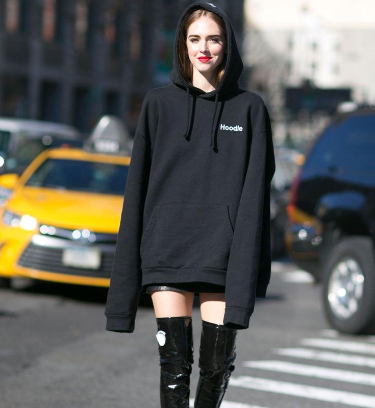 Street fashion: New York Fashion Week jesień-zima 2016/2017, fot. Imaxtree