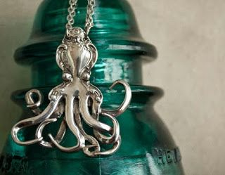 Whole Soul Jewelry Blog: Octopus Spoon Necklace   Silverware Jewelry