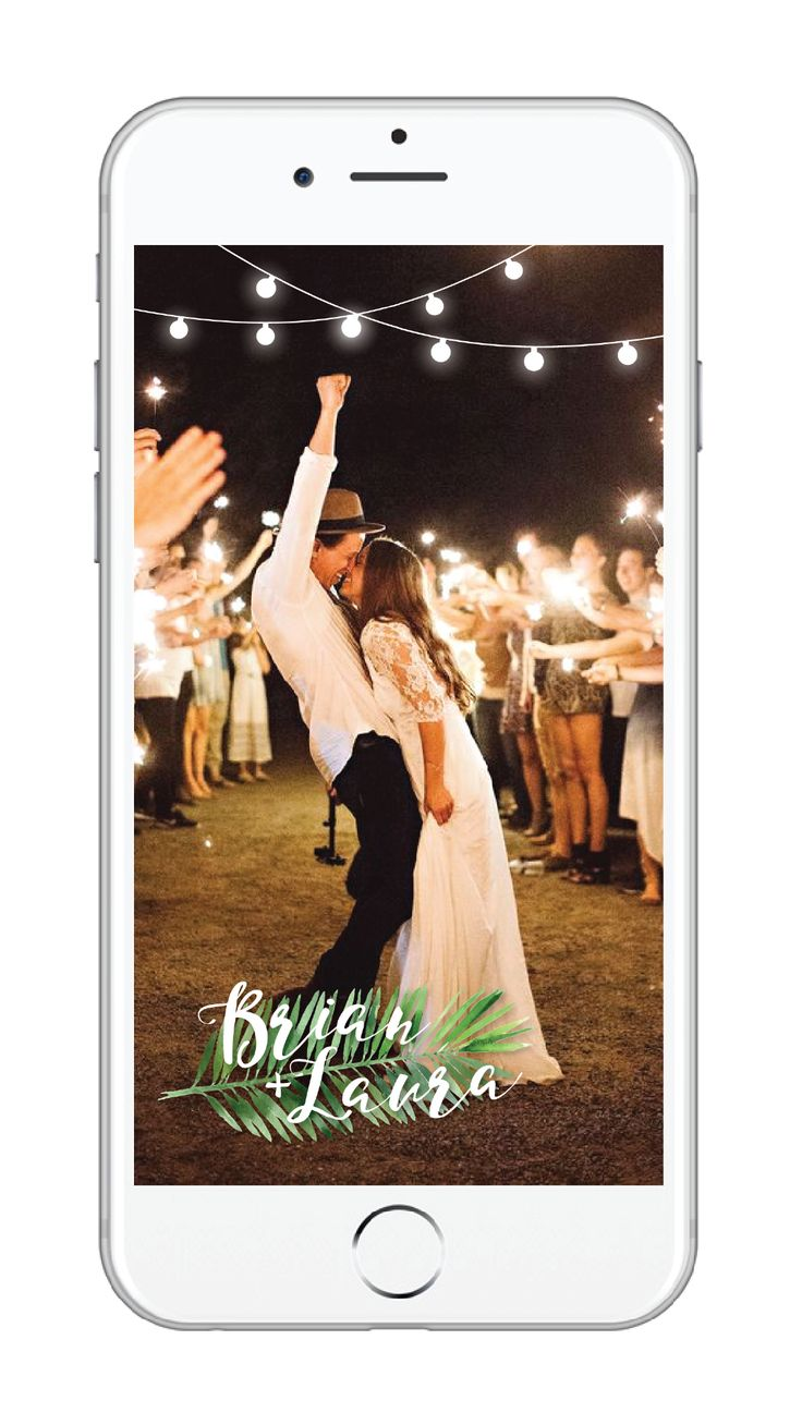 Custom wedding snapchat geofilter