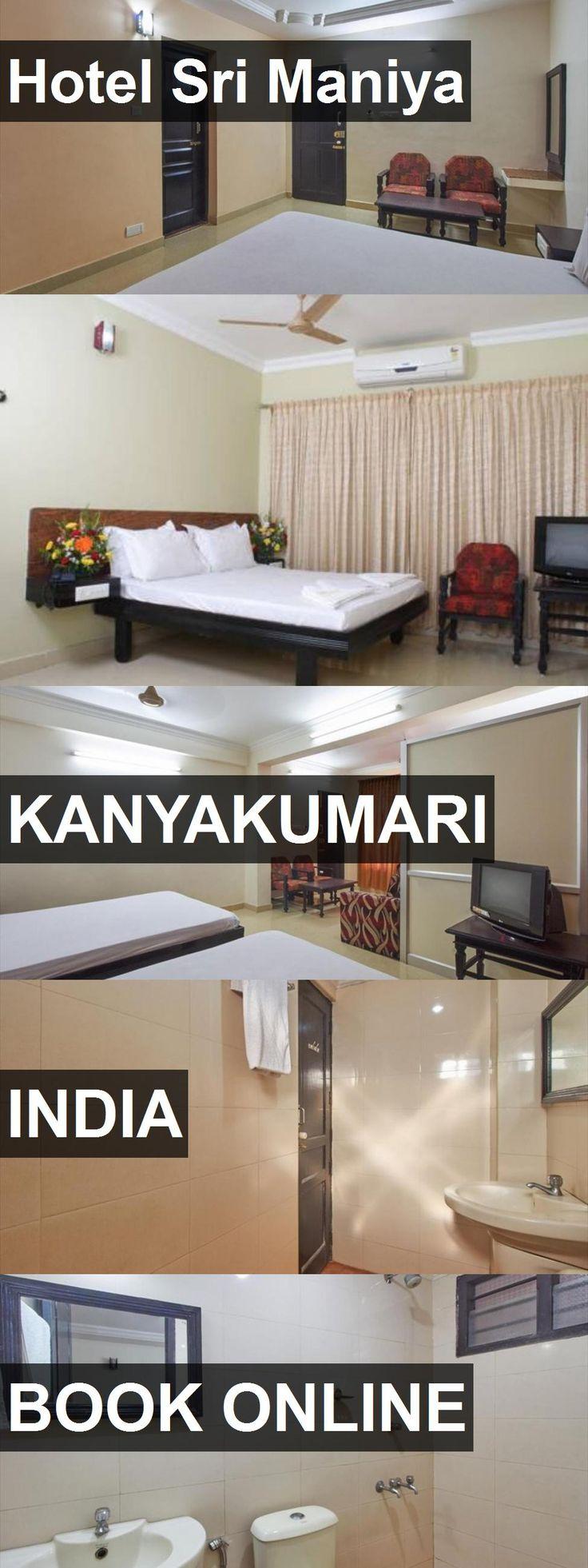 Hotel Sri Maniya in Kanyakumari, India. For more information, photos, reviews and best prices please follow the link. #India #Kanyakumari #travel #vacation #hotel