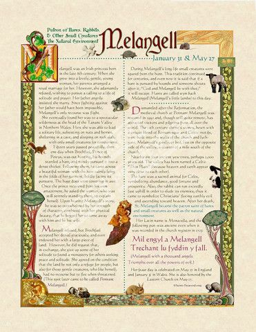 Melangell Scroll – PatriArts Gallery