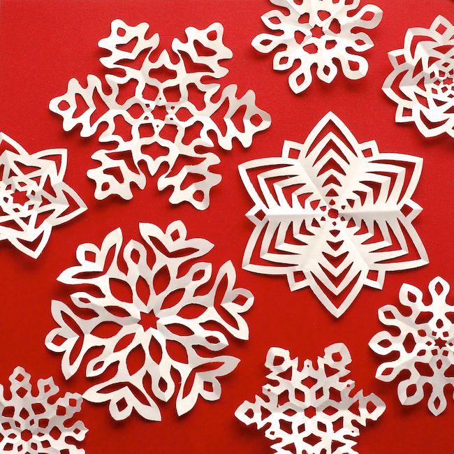 DIY: kirigami snowflakes (free printable template)