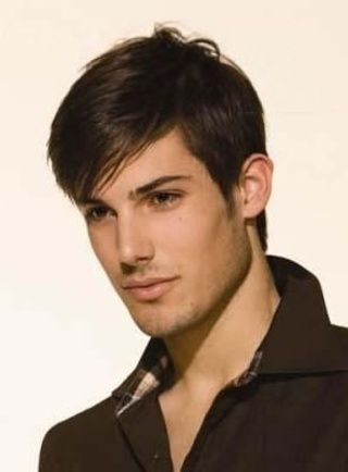 Handsome Men's  Hairstyle Short Straight Meidum Brown Lace Wig 100% Human Remy Hair