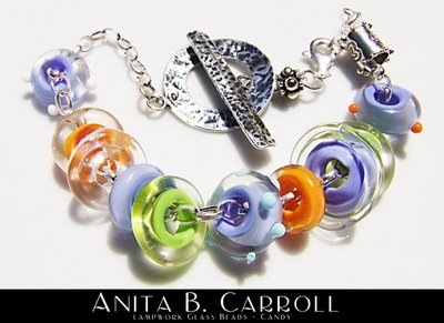 "Pandora inspired glass beads in the ""Candy"" collection.  Glass works by Anita B. Carroll  ♥ Facebook: Alvelys ♥ In store: #The #Garden #Party, Milford NH - US ♥  #Glass #Beads #Pandora #Alvelys #Anita #Carroll"
