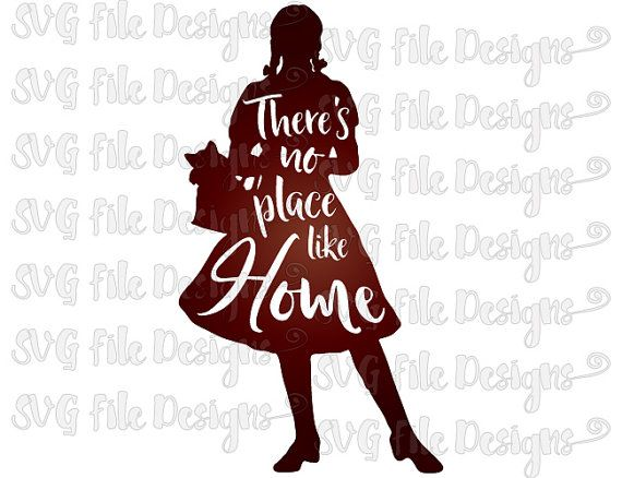 There's No Place Like Home Dorothy / Wizard of Oz Word Art ...
