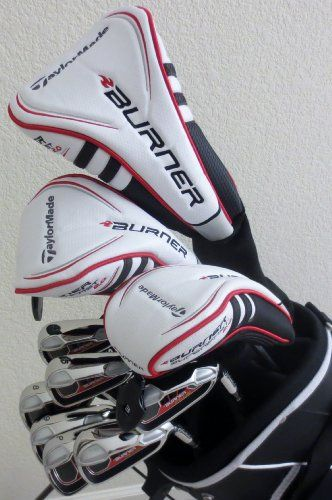 Mens TaylorMade Complete Golf Set Right Handed Stiff Flex White Driver, 3 Wood, Hybrid, Irons, Putter, Stand Bag Taylor Made Clubs TaylorMade,http://www.amazon.com/dp/B00GHT82O4/ref=cm_sw_r_pi_dp_fVqhtb1QKKEA7J7S