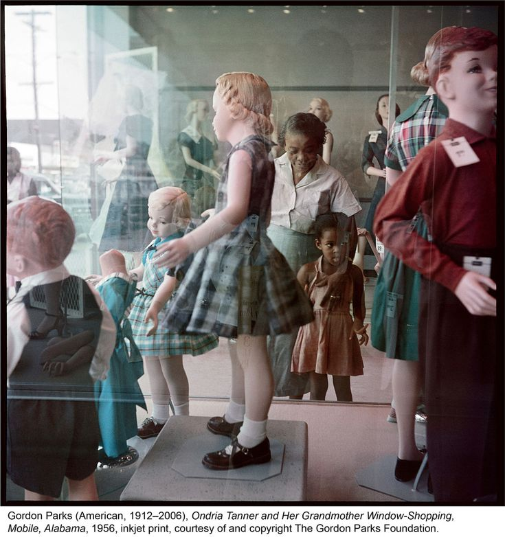 Gordon Parks (American, 1912-2006), Ondria Tanner and Her Grandmother Window-Shopping, Mobile, Alabama, 1956