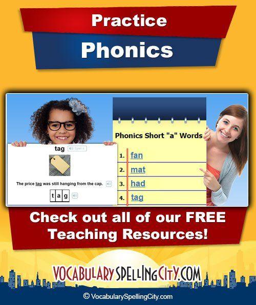 Phonics   VocabularySpellingCity