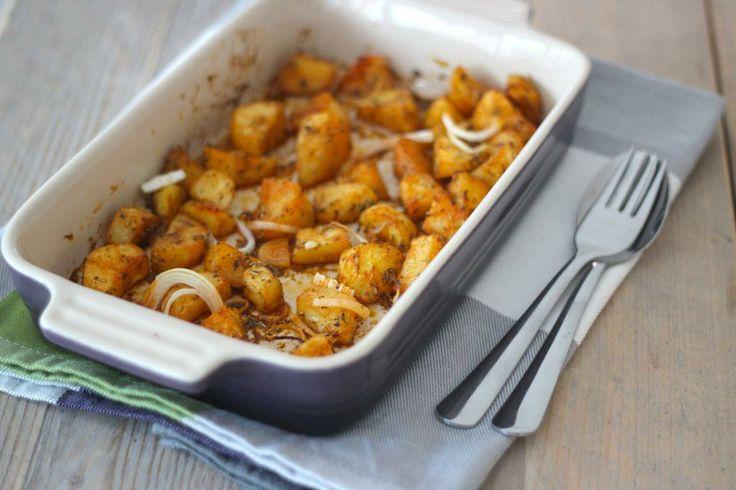 Kerstgerecht: gekruide aardappeltjes uit de oven - Lekker en Simpel