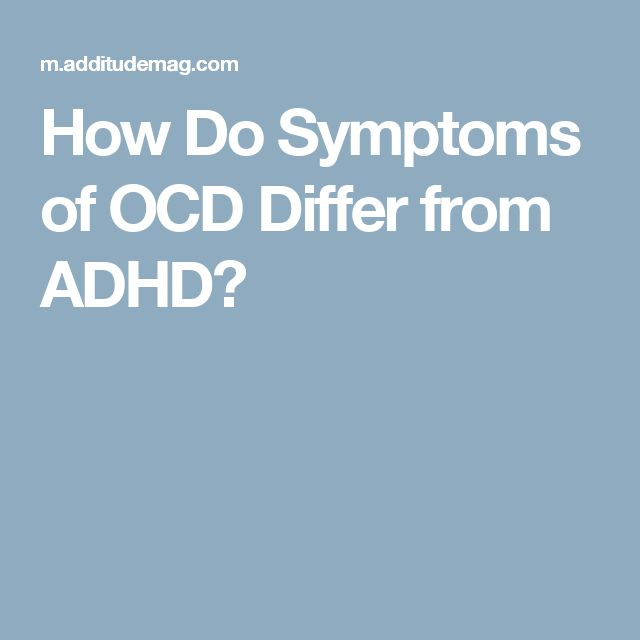 How Do Symptoms of OCD Differ from ADHD?