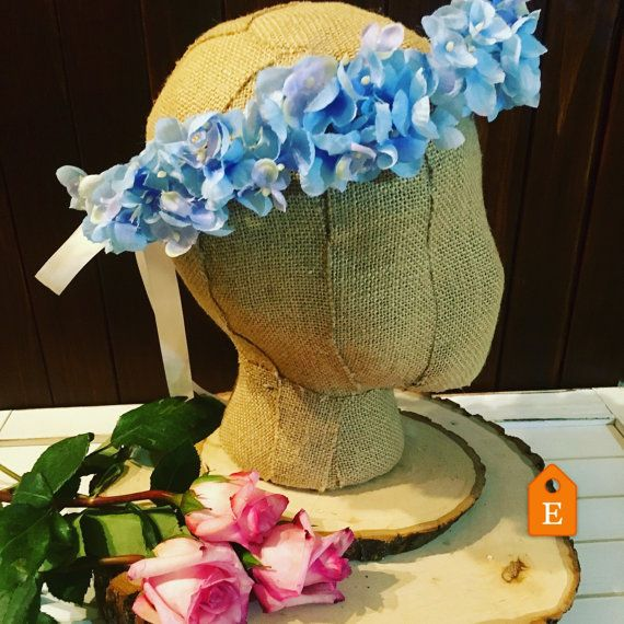 blue flower Crown. Hydrangea floral crown. Purple boho crown Floral headband festival Crown Coachella headband Hydrangea Crown