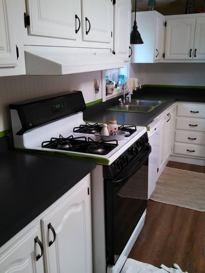 how to fake granite kitchen countertops
