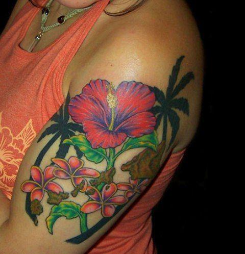 28 best hibiscus flower tattoos on shoulder images on for Hibiscus flower tattoo shoulder blade