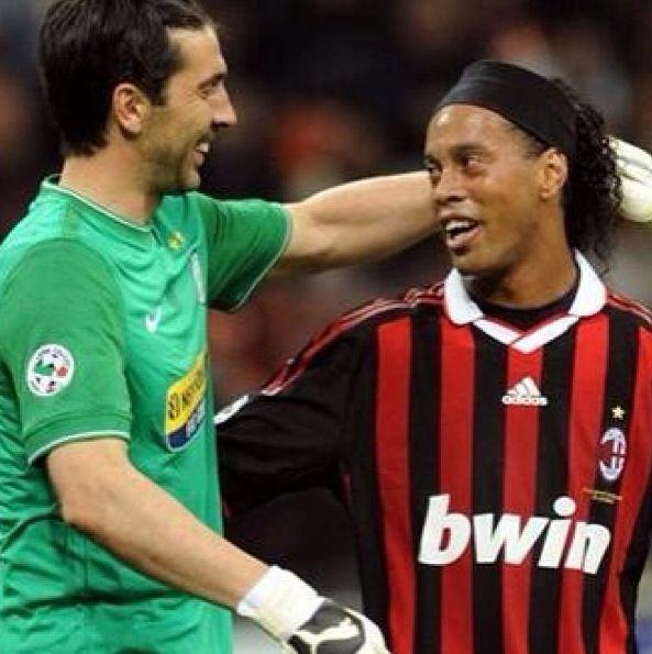 Ronaldinho and Buffon