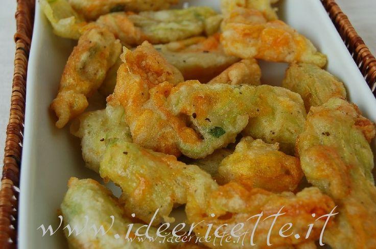 Ricetta Fiori di zucca fritti (senza uova)