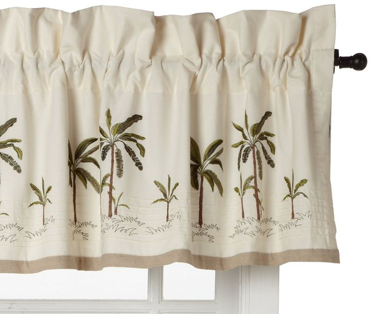 The Croscill Fiji Window Valance Brings A Warm, Natural Tone To Your Decor,  With A Calming Visual Of Palm Trees. Each Measures 82 In Wide X 16 In  Length Cm ...