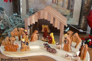 Scroll Bench: Nativity Scene Intarsia | Wood | Pinterest | Scene, Nativity and Nativity scenes