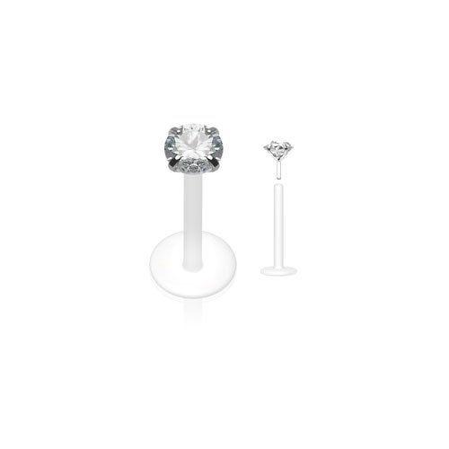 percing levre labret diamant