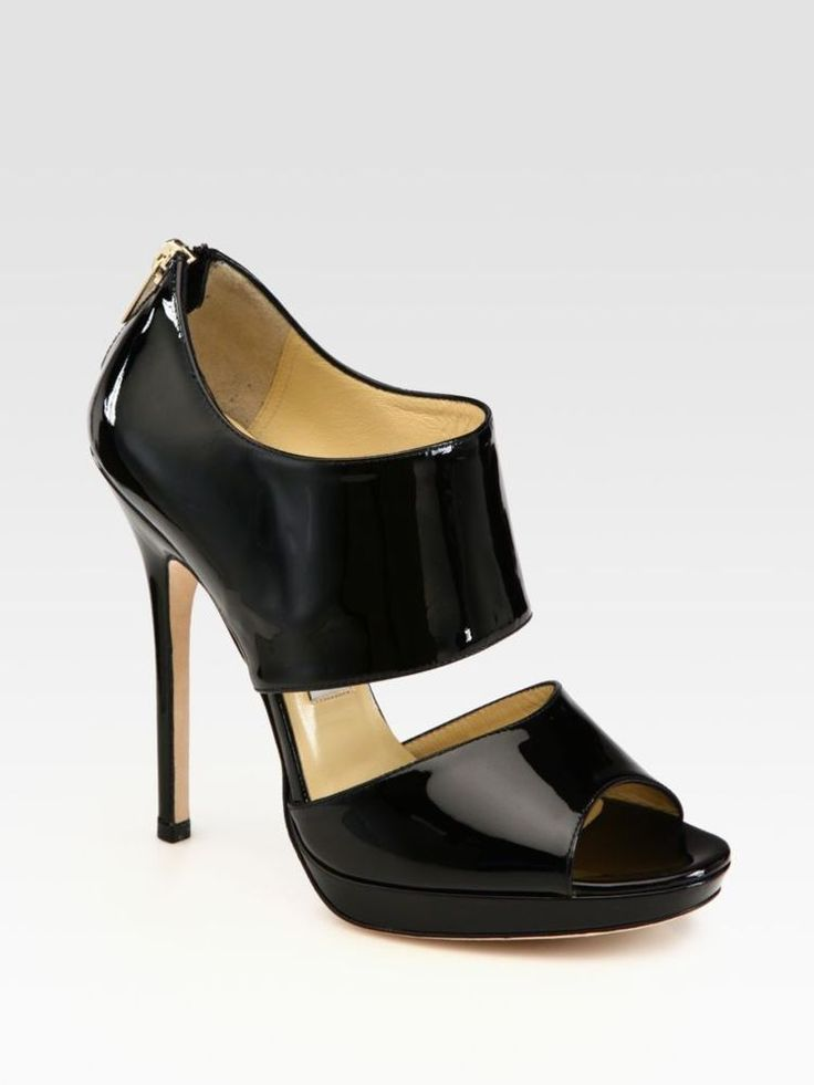 NEW JIMMY CHOO PRIVATE BLACK PATENT SHOES RRP $1150 . Box & Dustbag Size 39.5