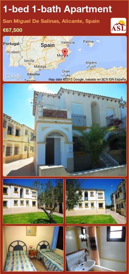 1-bed 1-bath Apartment in San Miguel De Salinas, Alicante, Spain ►€67,500 #PropertyForSaleInSpain