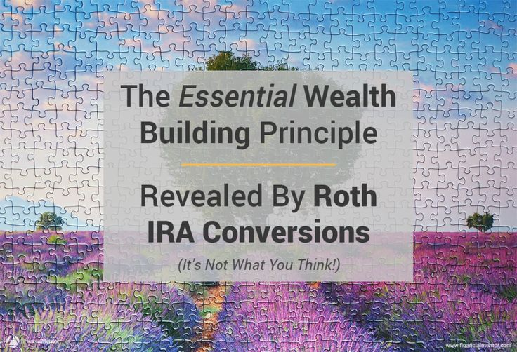 Essential Wealth Building Principle Revealed By Roth IRA Conversion