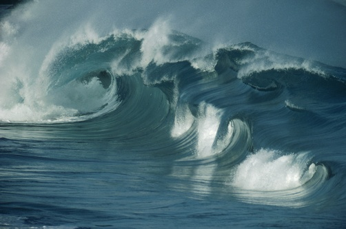 North shore of Oahu, Hawaiian chain - famous for its huge waves
