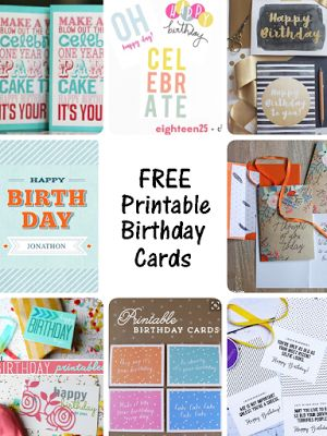 huge collection of free printable birthday cards for everyone on your list The Ultimate Pinterest Party, Week 84
