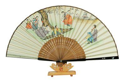 Traditional Folding Fan - Neoltwigi , korean see-sawing.