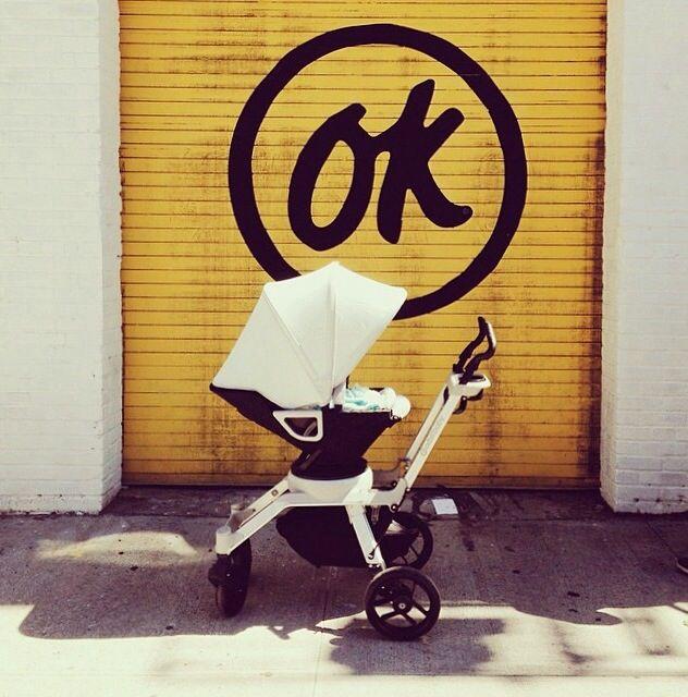 Orbit stroller in white