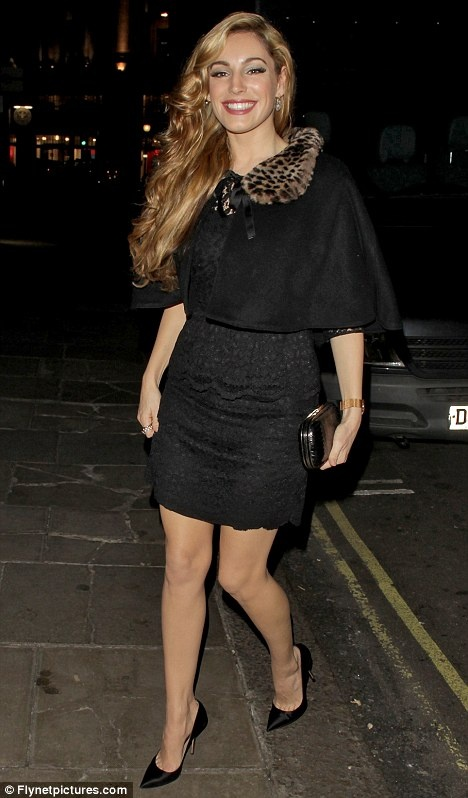 Kelly Brook wearing the Blanche in the Brambles Christmas Cape