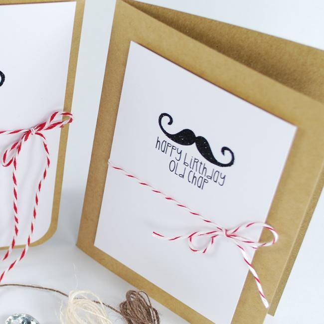 Mr Moustache Digital Image Stamps