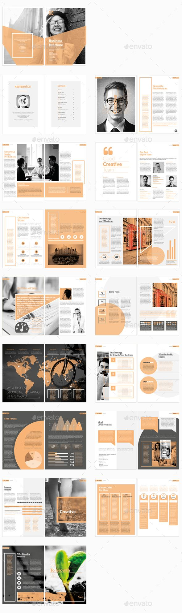Brochure Template InDesign INDD #design Download…