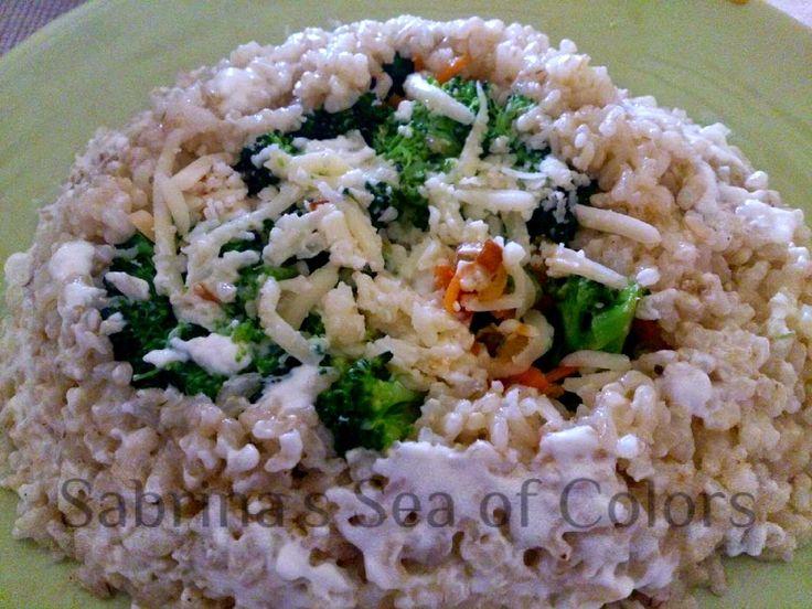 Sabrina´s  Sea of Colors: Arroz integral con verduras