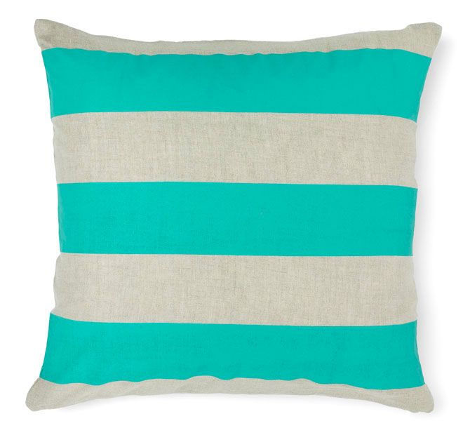 Aura Wide Stripe 50x50cm Filled Cushion Jade