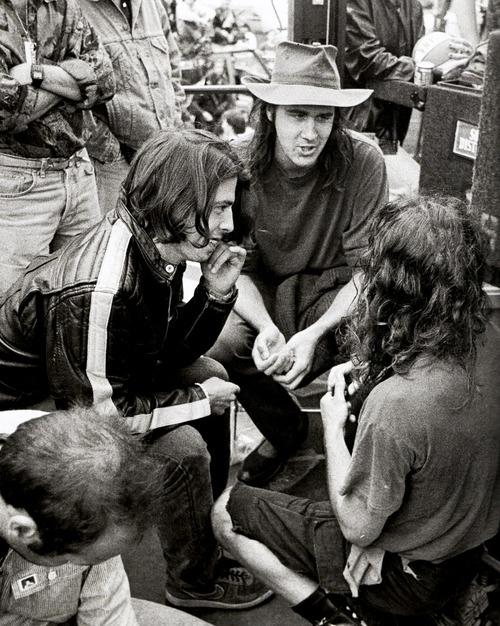 Dave Grohl, Krist Novoselic and Eddie Vedder, 1992.