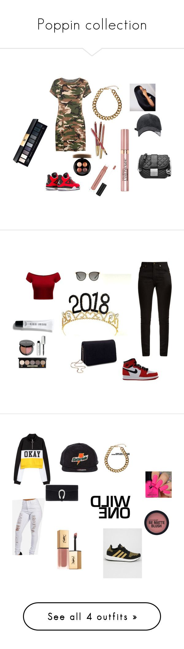 """""""Poppin collection"""" by killakay03 on Polyvore featuring WearAll, MICHAEL Michael Kors, Club Manhattan, John Lewis, L'Oréal Paris, Sisley, Anastasia Beverly Hills, MAC Cosmetics, Trendy and Yves Saint Laurent"""